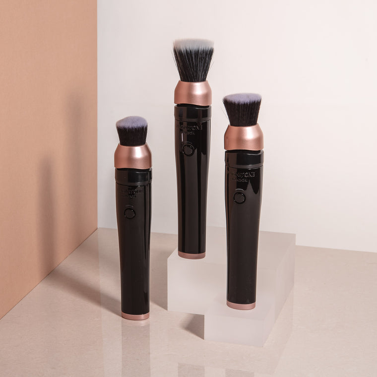 Magnitone BlendUp Vibra Sonic MakeUp Foundation Blending Brushes with different brush heads