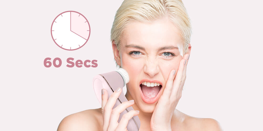 auto timer for the perfect face cleanse