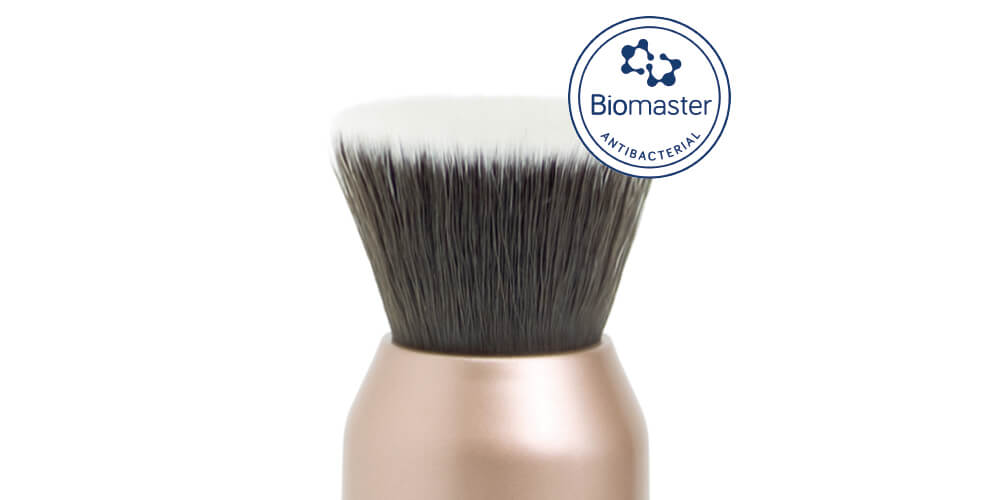 Biomaster® is proven to inhibit the growth of microbes and bacteria in a makeup brush head by up to 99.99%