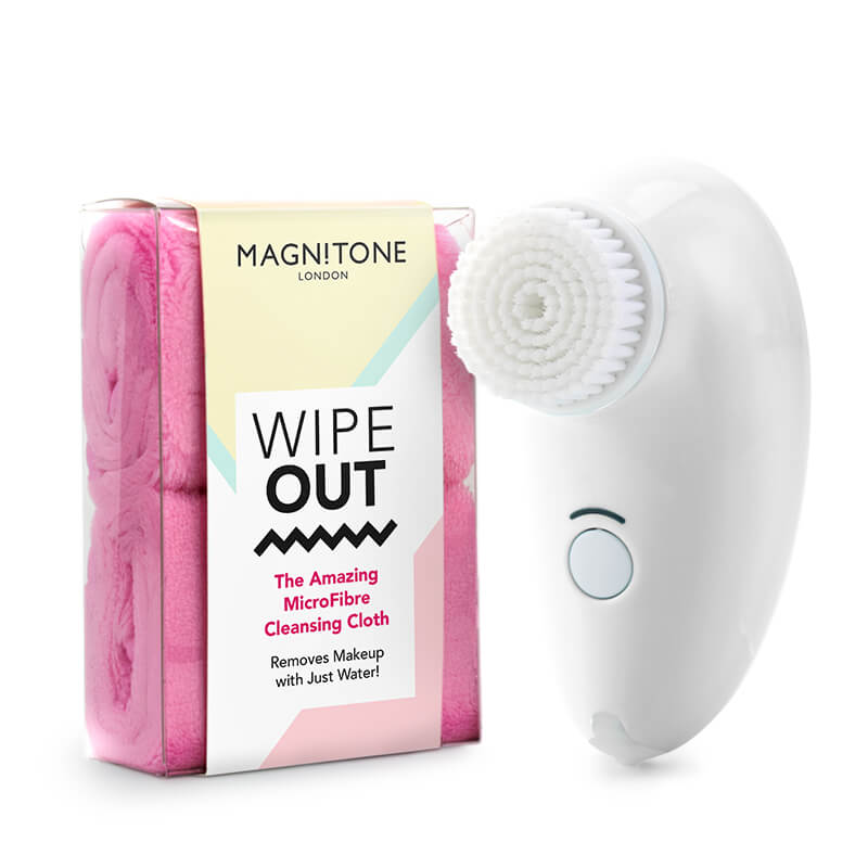 First Step Compact Daily Cleansing Brush + Wipeout Cleansing Cloth