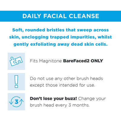 PoreFect Replacement Brush Head for BareFaced 2 (2 pack)