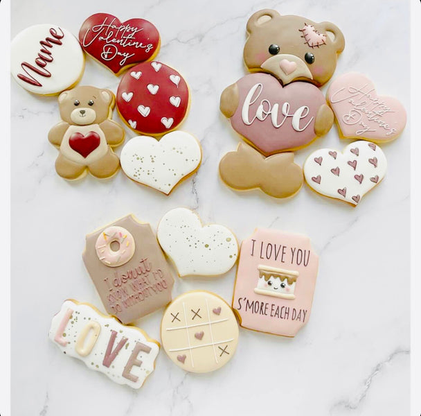Valentines Cookies set