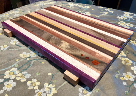 Striped Mosaic Cutting Board