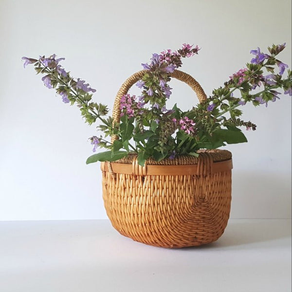 Simply Sublime Vintage Woven Basket With Handle