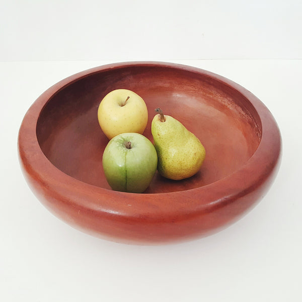 Large Mid-Century Turned Footed Salad Fruit Bowl