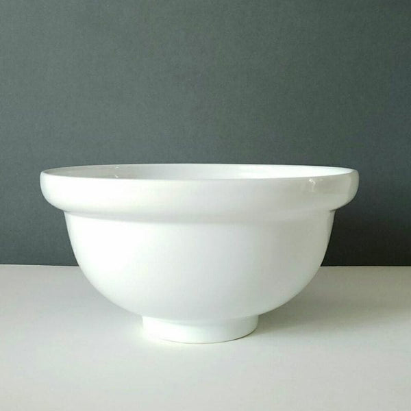 Large Vintage White Bowl