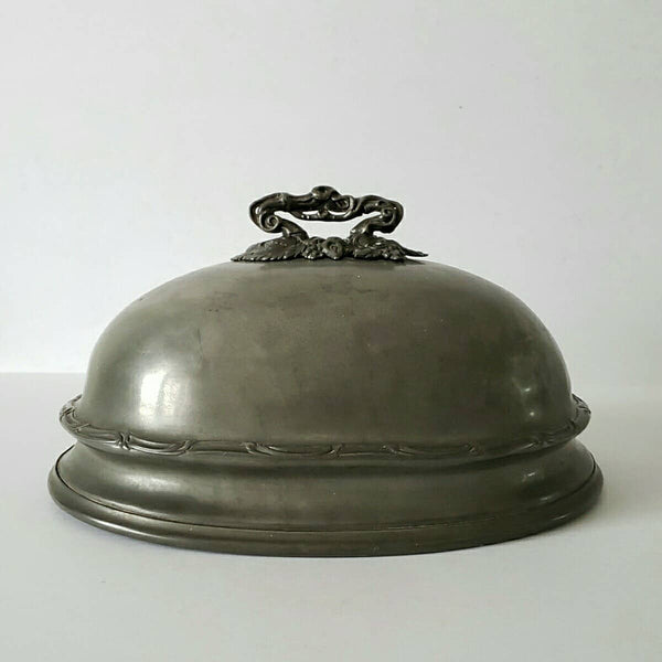 Antique Pewter Meat Dome Shaw & Fisher England