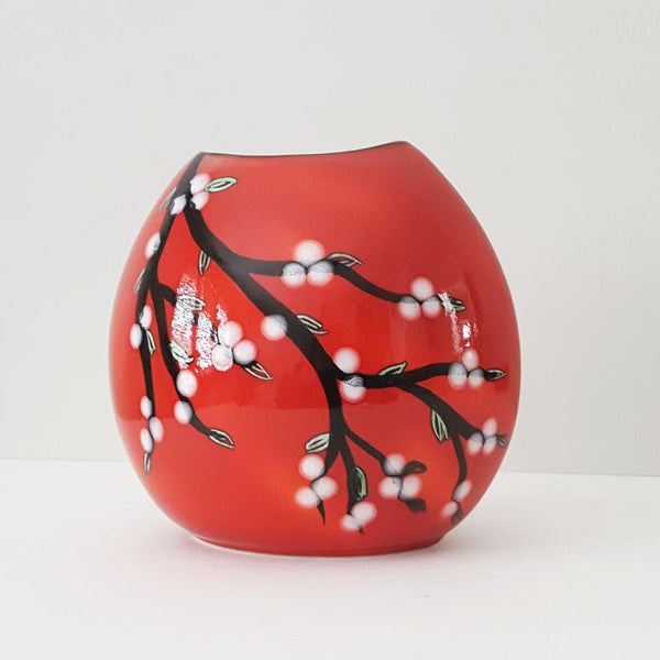 "Poole Pottery Vase ""Blossoms"""