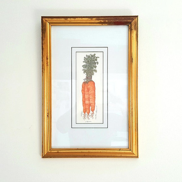 """Carrots"" Martha Hinson Pencil Signed Limited Edition Framed Print"