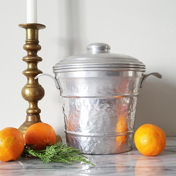 Hammered Aluminum Ice Bucket