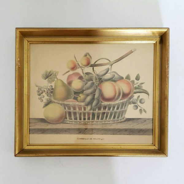 "French Lithograph Still Life With Fruit ""Corbeille De Fruits No 2"""