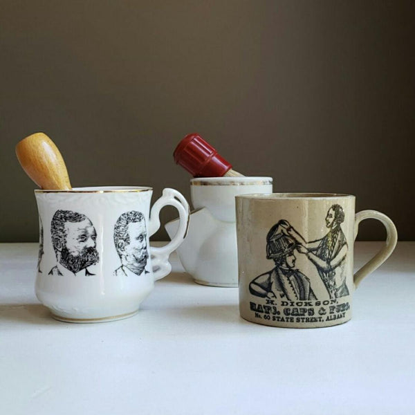 Antique Country Barbershop Beard Mug