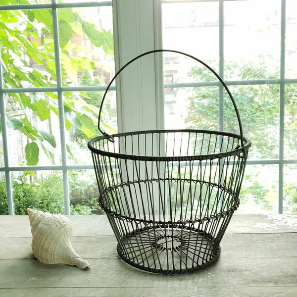 Wire Fishing Catch All Decorative Farm Basket