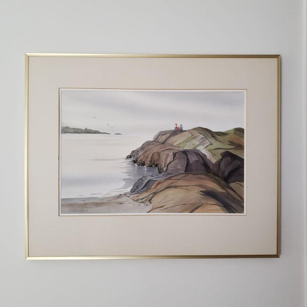 Christine Richards Victoria Coastline Watercolour
