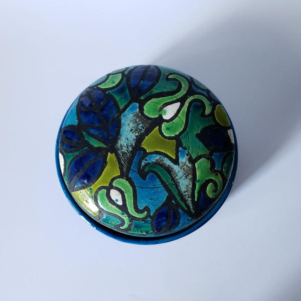 Bitossi For Rosenthal Netter Stunning Blue Green Italian Table Dish Catch All