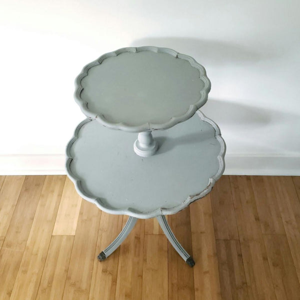 Gorgeous Paris Grey Dumbwaiter Two Tiered Pie Table
