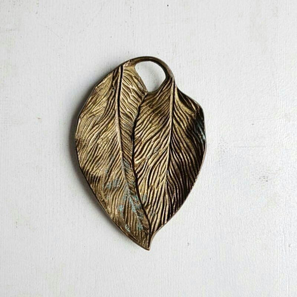 Brass Leaves Leaf Dish