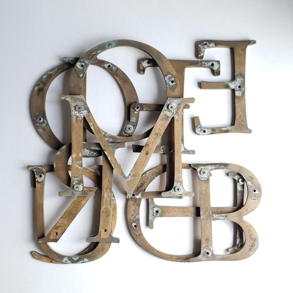 Vintage Brass Salvage Decorative Letters