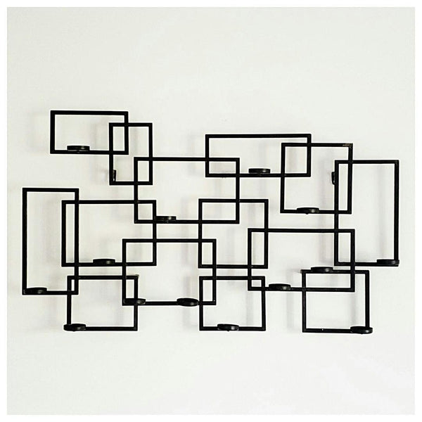 Geometric Metal Wall Candelabra