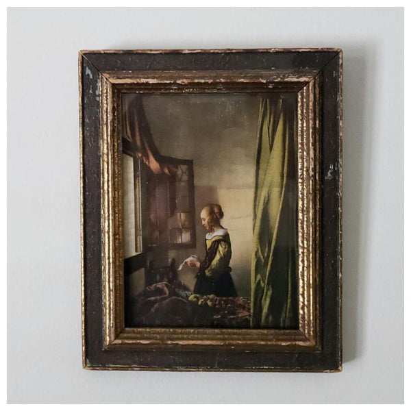 "Johannes Vermeer Antique Framed Print ""Girl Reading a Letter"""