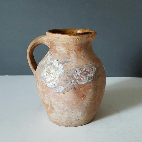Terra Cotta Pitcher With Glazed Interior