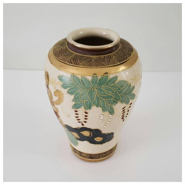 Signed Antique Japanese Satsuma Vase