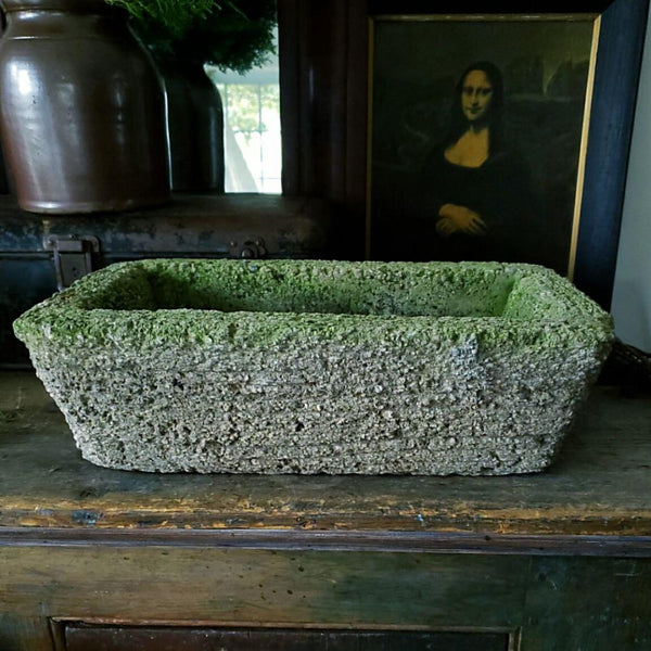 Gorgeous Faux Bois Cement Hypertufa Planter Troughs Garden Statuary