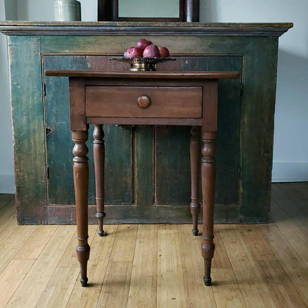 Antique One Drawer Side Table
