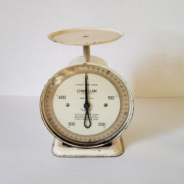 Circa 1940's Chatillon Creamy White Table Top Scale