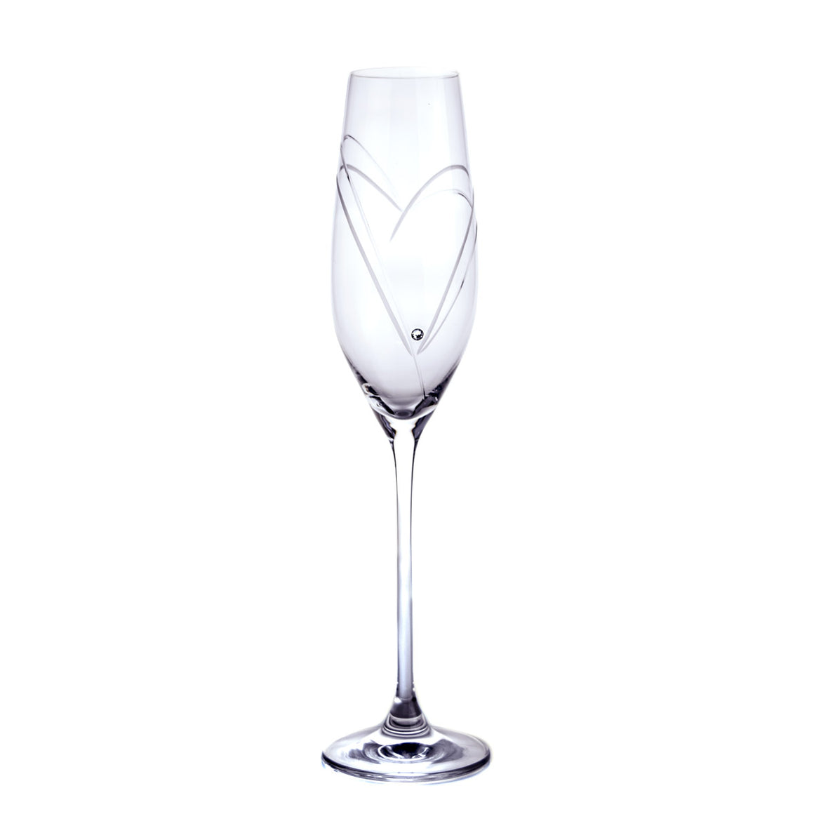 Nataly Swarovski Crystals Hand-made Champagne Glasses, Set of 2 - The Crystal Wonderland