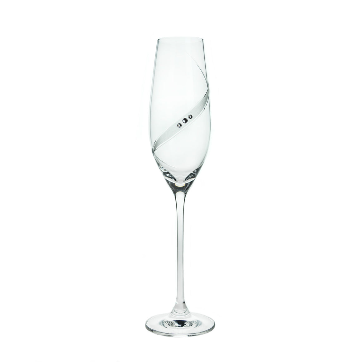 Line Exclusive Swarovski Crystals Champagne Glasses, Pair - The Crystal Wonderland