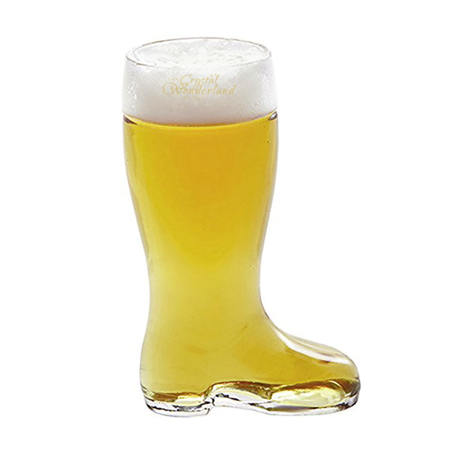 Boot Shaped Beer Glass 16.9oz - The Crystal Wonderland - 2