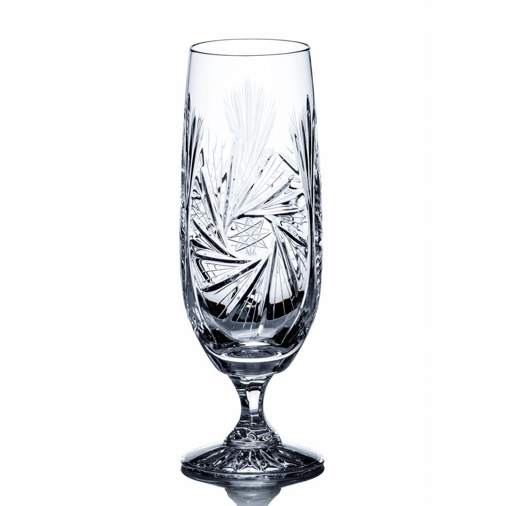Beer Glasses - Starlet Crystal Cut Beer Glasses, Set Of 6