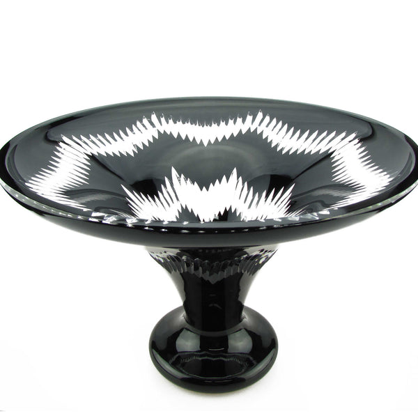 Noir Footed Crystal Bowl - The Crystal Wonderland - 1