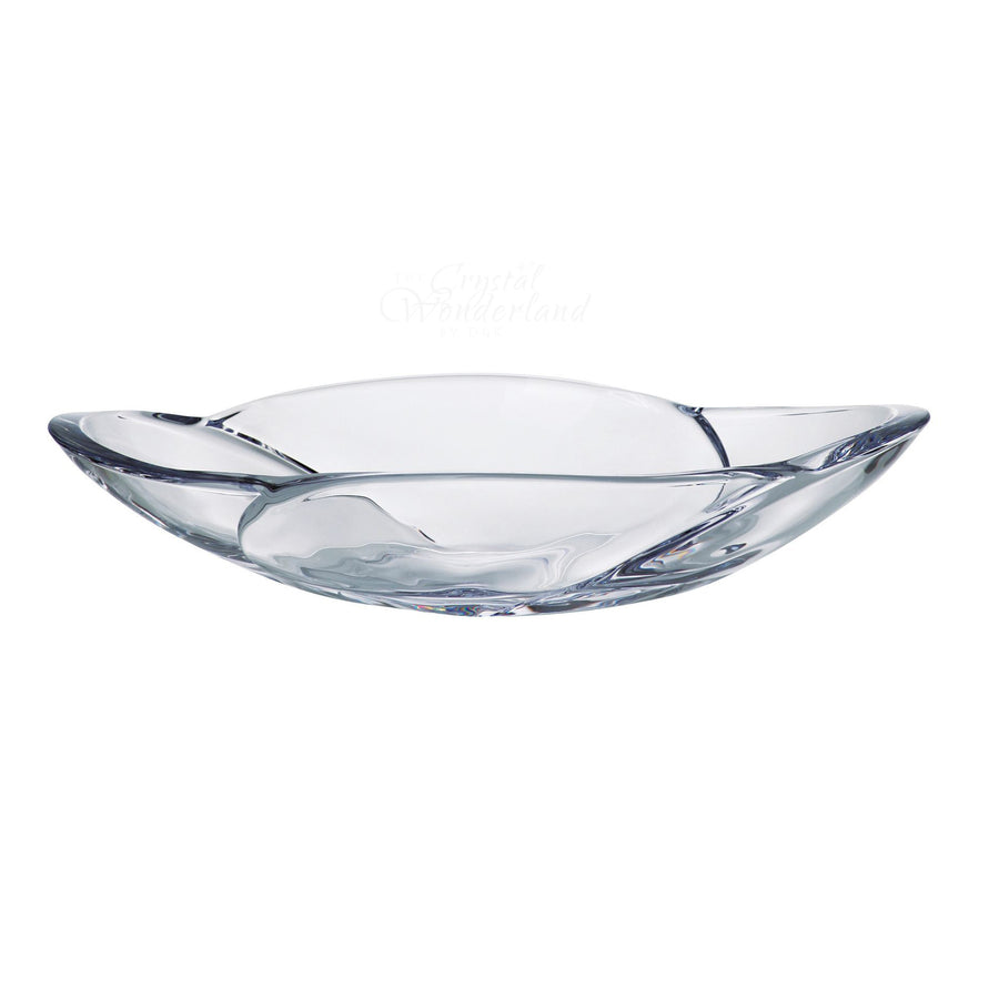 Tulip Oval Glass Bowl - The Crystal Wonderland