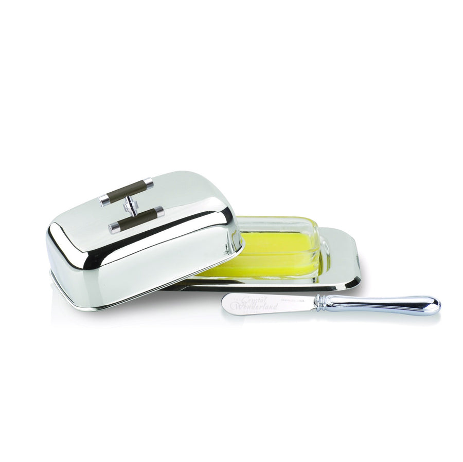 Stainless Steel Butter Dish With A Knife - The Crystal Wonderland