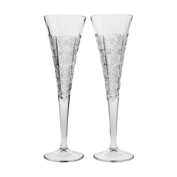 Champagne Glasses - Bella Crystal Champagne Toasting Flutes, Pair