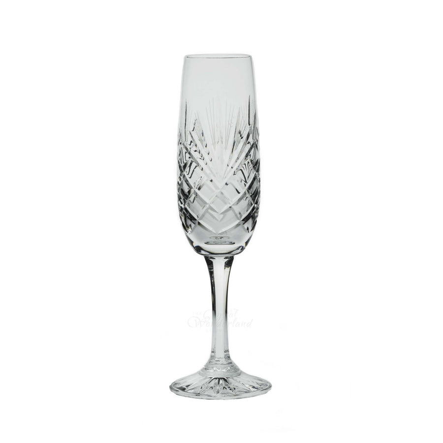 Champagne Glasses - Dionysos Crystal Champagne Flutes, Set Of 6