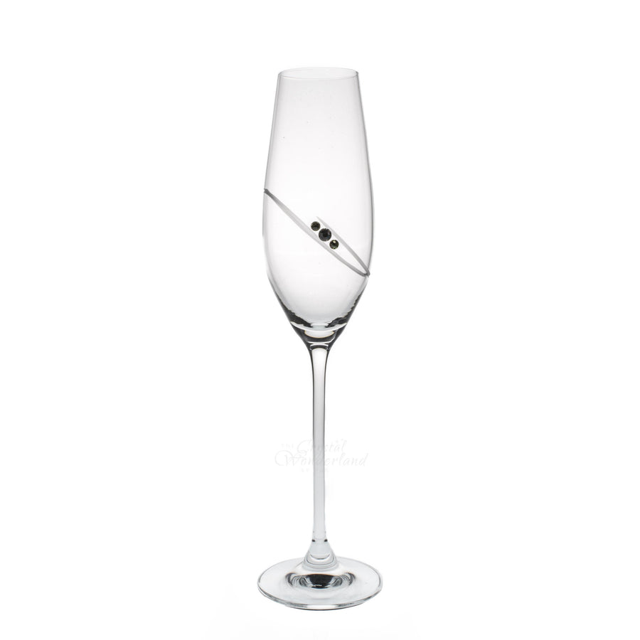 Ring Champagne Glasses with Swarovski Crystals, Pair - The Crystal Wonderland - 1