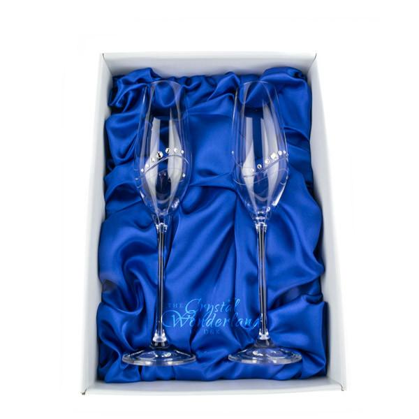 Champagne Glasses - Samantha Swarovski Crystals Champagne Glasses, Pair