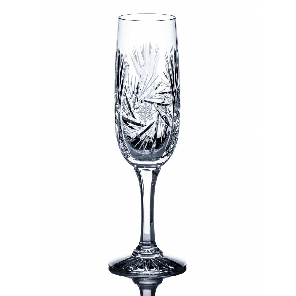 Champagne Glasses - Starlet Crystal Champagne Flutes, Set Of 6