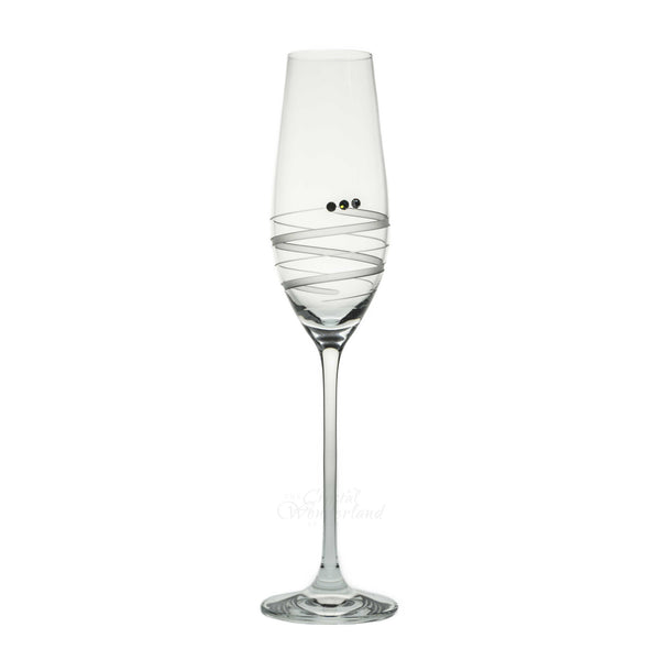 Callista Champagne Toasting Glasses with Swarovski Crystals, Set of 6 - The Crystal Wonderland - 1
