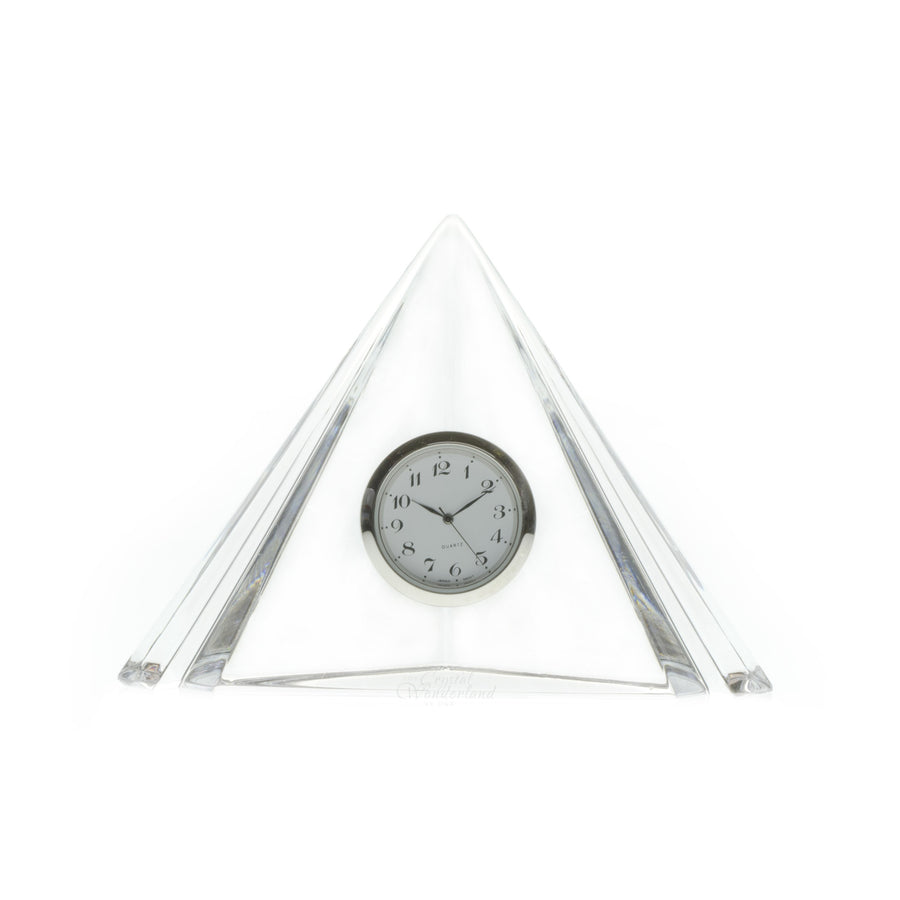 Pyramid Crystal Desk Clock - The Crystal Wonderland