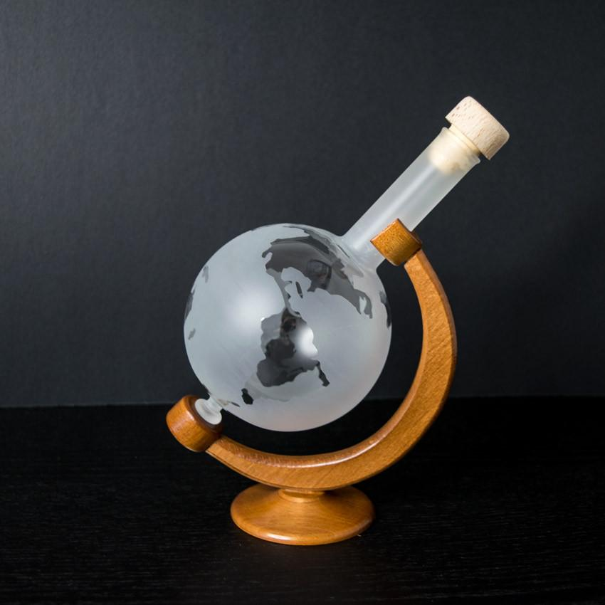 Decanters - Handcrafted Glass Matt Globe Bottle