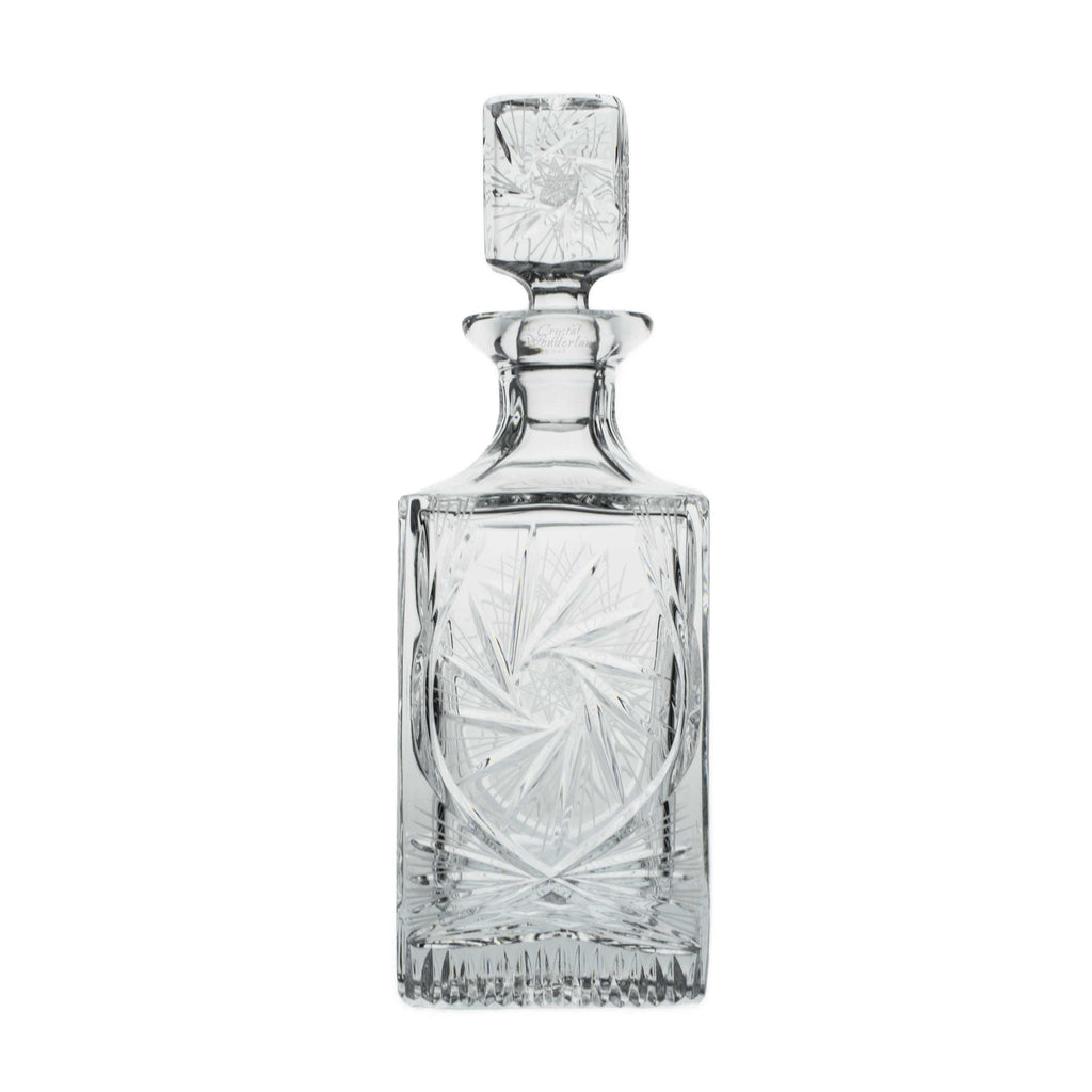 Starlet Crystal Cut Decanter, 25.3 oz - The Crystal Wonderland