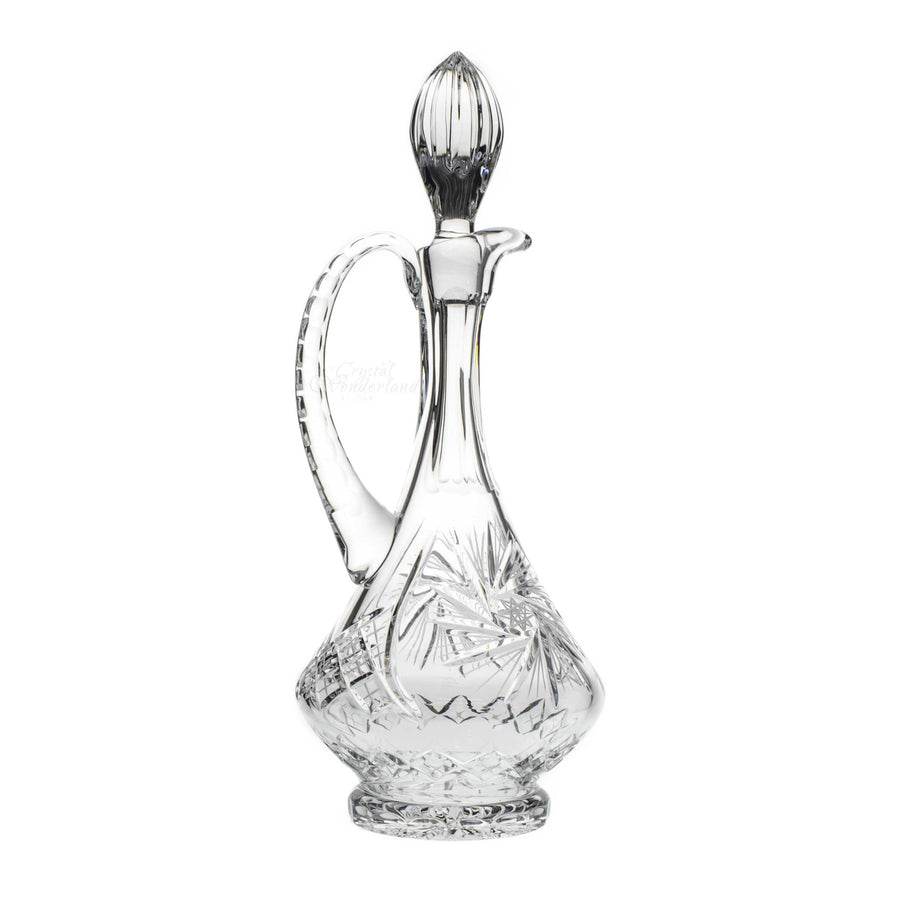Starlet Tall Crystal Decanter with Handle - The Crystal Wonderland