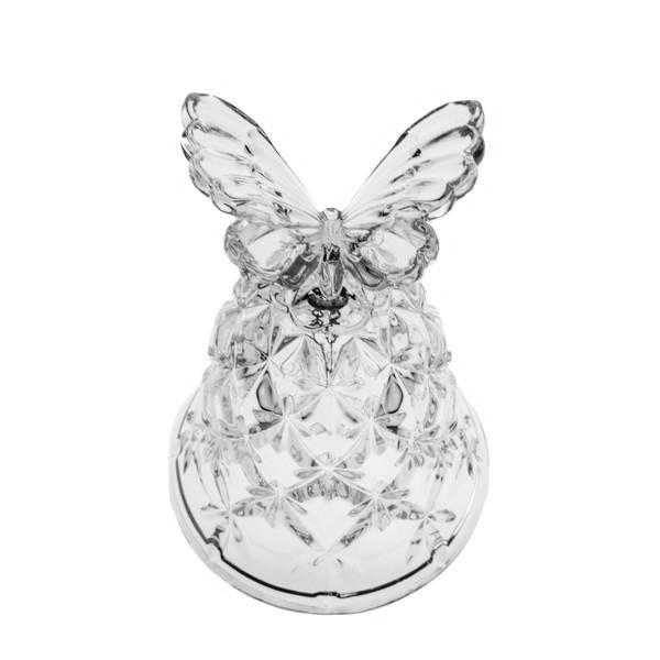 Figurines - Crystal Butterfly Wedding Bell
