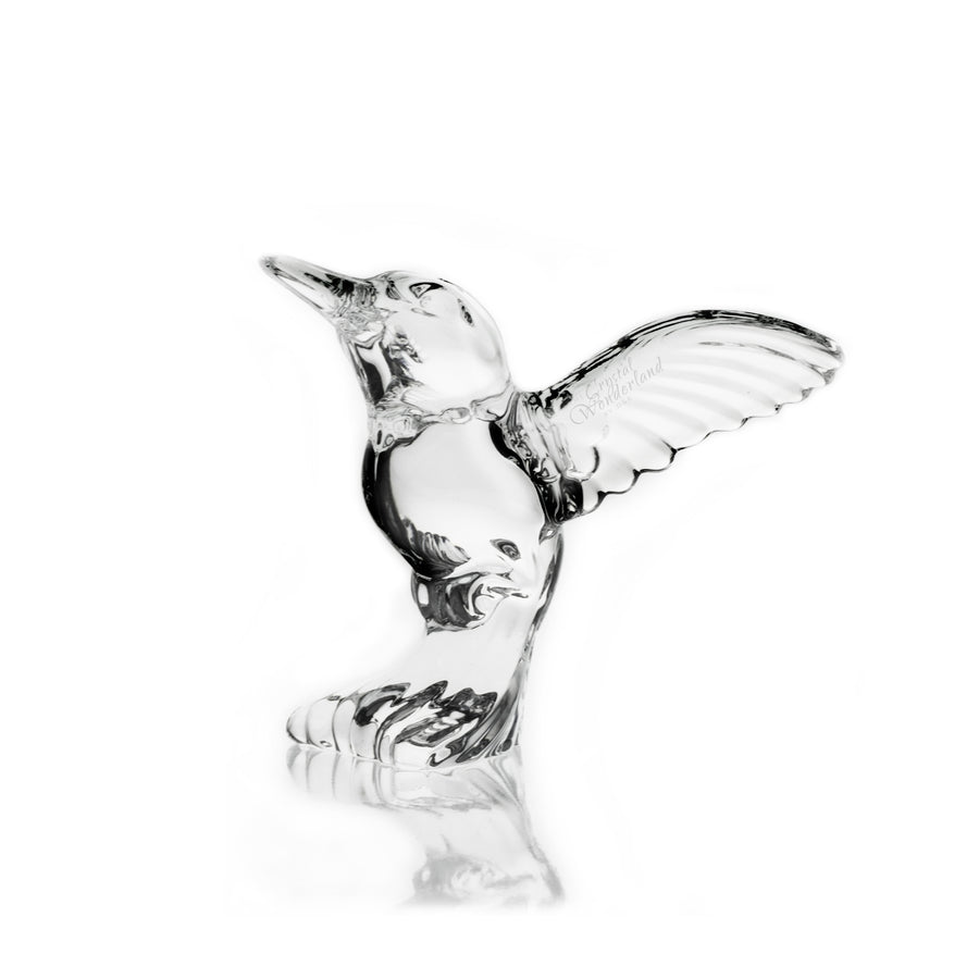 Hummingbird Crystal Figurine
