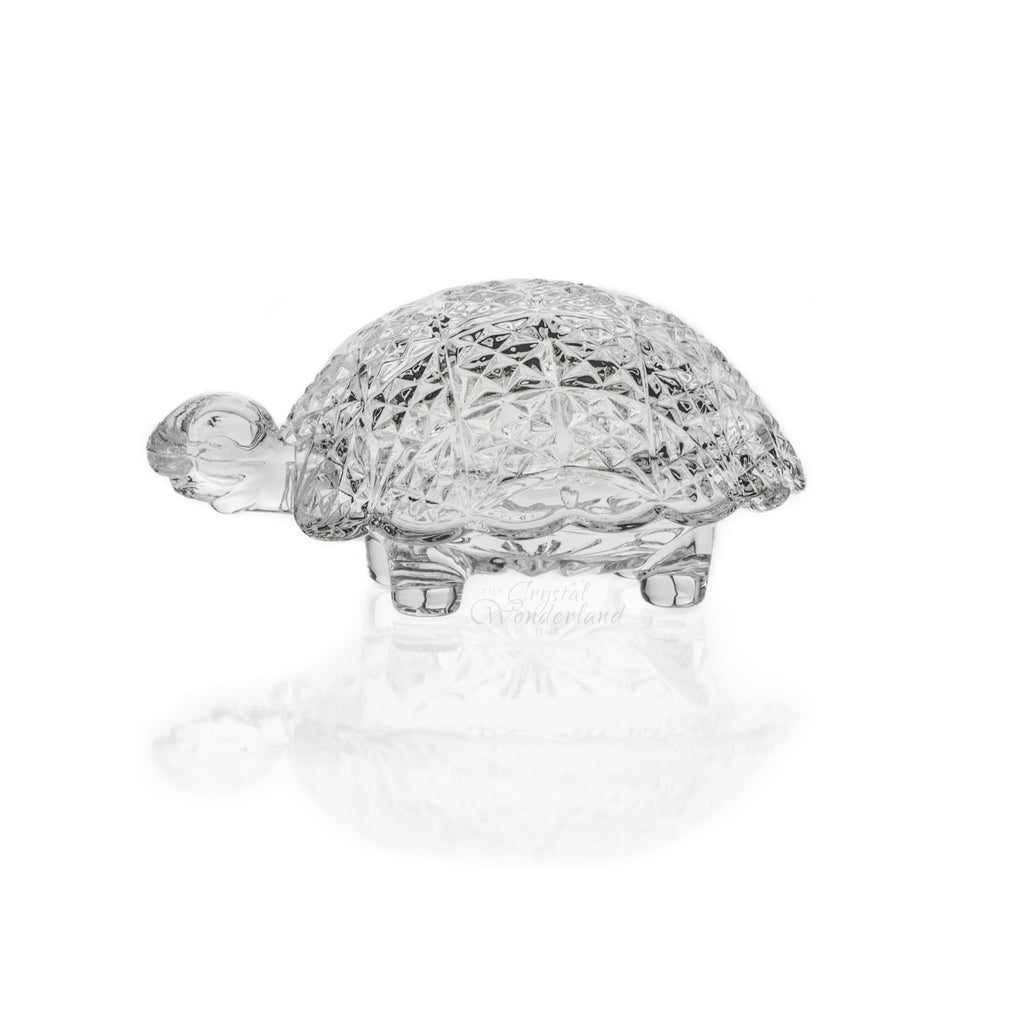 Turtle Crystal Ring Box Figurine - The Crystal Wonderland