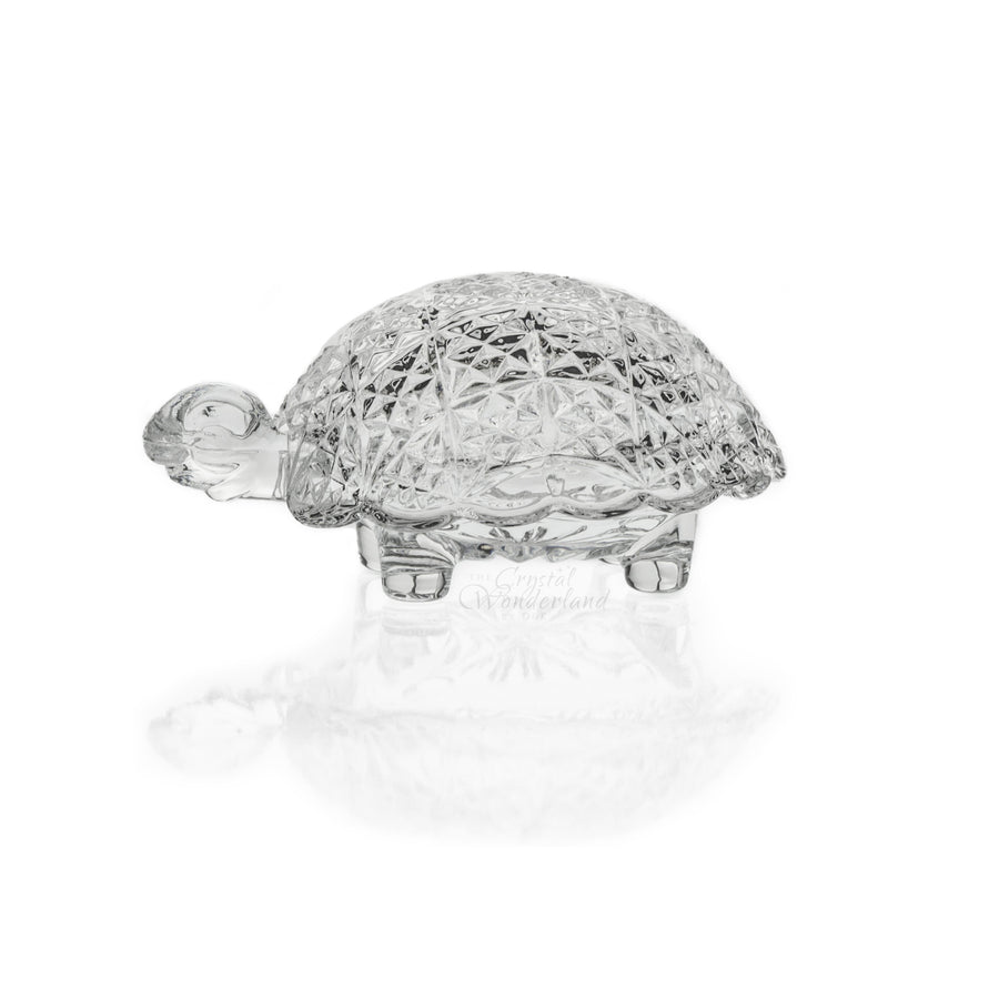 Figurines - Turtle Crystal Ring Box Figurine